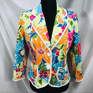 Willi Smith Multicolor Flowers Jacket